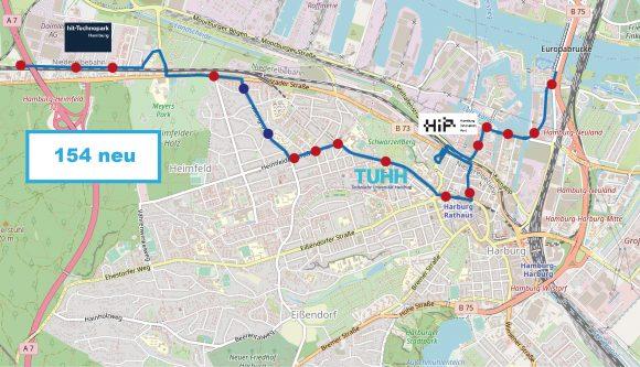 Die Harburger Innovationsachse braucht eine gute und direkte Busverbindung